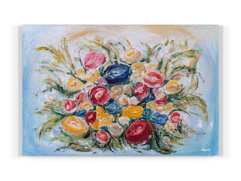 RAMO DE NOVIA 120x80 Acrilico su tela 2019 Wedding dipinto astratto