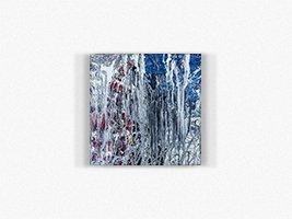 WINDOW I 40x40 mixed media on canvas acrylic and enamel salvatore morgante art 2014