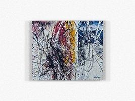 WINDOW II 60x50 mixed media on canvas acrylic and enamel salvatore morgante art 2014